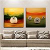Free Shipping Strong Painter Team Supply High Quality Warmly Colors Impression Animals Fat Sheep Oil Painting On Canvas