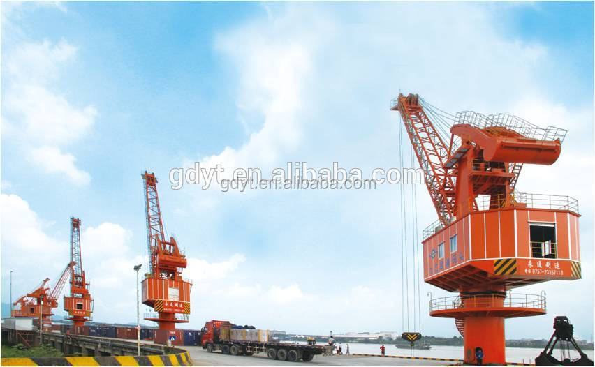 Ship unloading Seaport stationary cranes fixed cranes tower crane with high quality