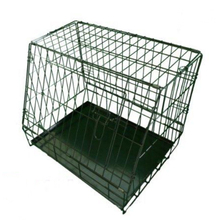 Sloping Folding Car Puppy Cage Dog Cage with Metal Tray