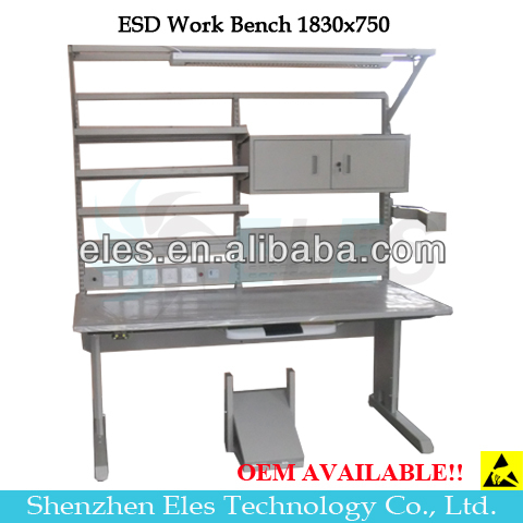 Customizable ESD electrical garage workbench
