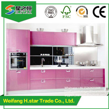 Good quality Popular high glossy modern style kitchen cabinet,home kitchen