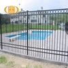 2018 new style security retractable iron pool steel fence
