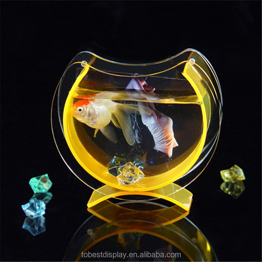 custom fancy fish tank can be placed photos,plastic aquarium tank