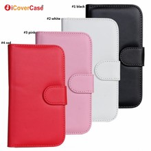Mobile Phone Wallet Transparent Credit Cards PU Leather Case for Samsung Galaxy S3 i9300 S3 Neo Cover