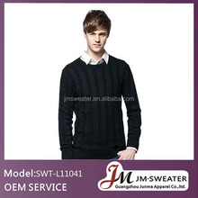 100% wool knitted cable latest designs pullover men sweaters