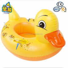 CE factory pvc pool swimming floating inflatable duck baby seat float