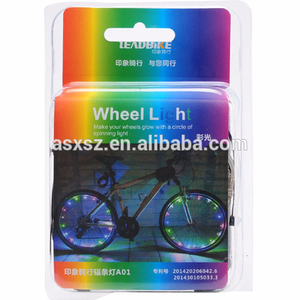 Colorful Bicycle Lights Bike Cycling Wheel Spoke Light USB Rechargeable LED Mountain Bike Light