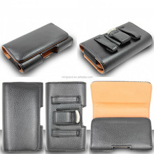 Mobile phone leather case pouch for Samsung horizontal holster cover