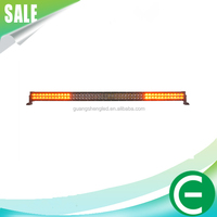 wholesale 12V 24V 288W 50 inch waterproof flashing strobe warning used police emergency bar Red/Bule light