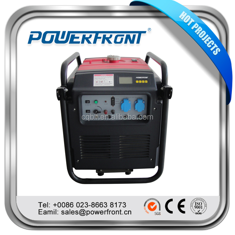 New air cooled 4 stroke single cylinder 5kw gasoline portable digital inverter generator