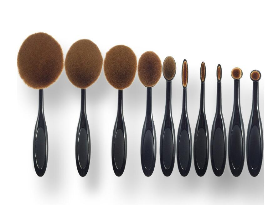 Toothbrush Shape Eyebrow Makeup Foundation Brush Powder Brush Kits