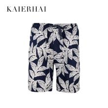 New fashion polyester 잎 printed 하와이 beach summer 망 shorts