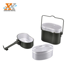 Easy Clean Aluminum Mess Tin Camping Cookware Mess Kit Wholesale