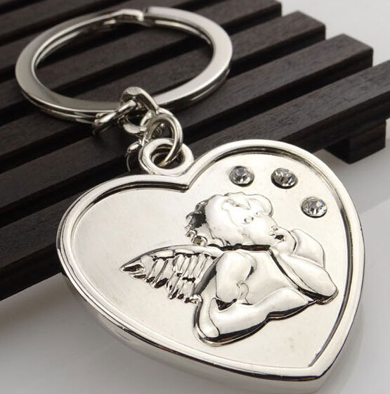 heart shape ornaments angel key ring <strong>crafts</strong>