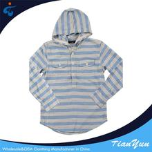 China custom Wholesale hooded stripe boys fancy shirts