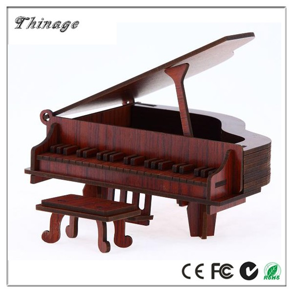 Hot Item Musical Instrument Piano 3D wooden Puzzle