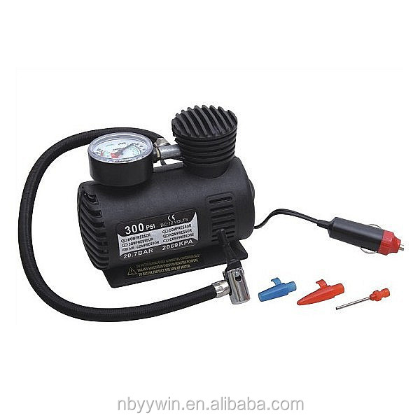 OOLS 250PSI 12V PORTABLE CAR BIKE VAN 4X4 AIR COMPRESSOR RACE TYRE INFLATER PUMP KIT