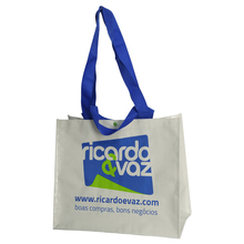 50kgs Big Laminated PP Woven Shopping Bag with Buttons, 2 Pairs of Handles