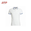 Stripe Collar and Rib Custom Logo Stock Polo Shirt