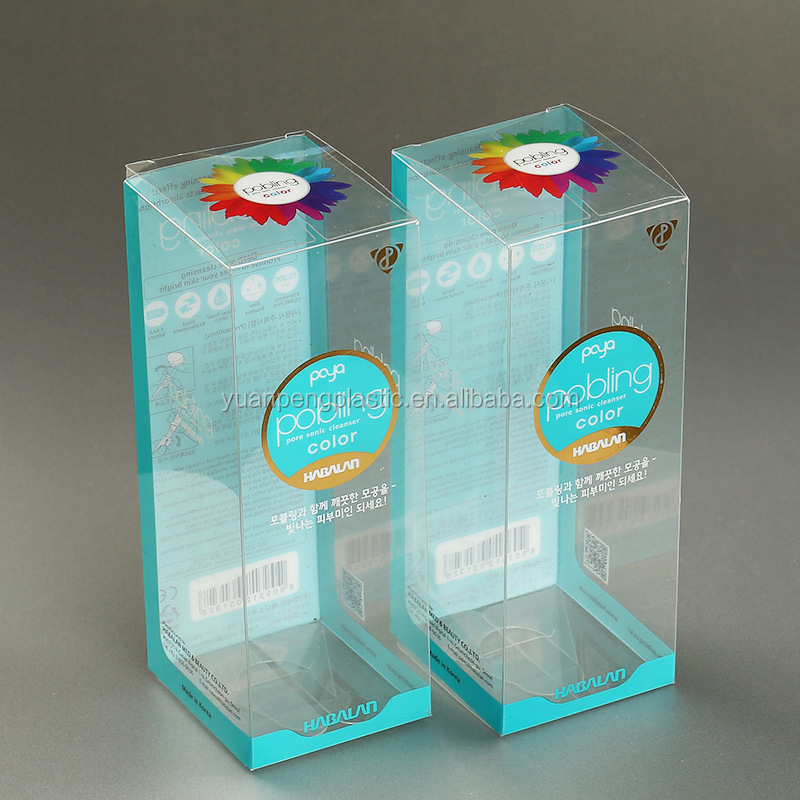 Custom printed plastic packaging box with hanger,cheap PVC/PET plastic packaging box with clear free sample