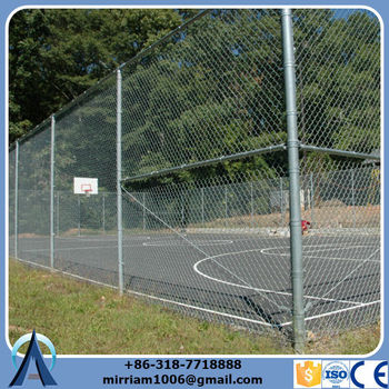 Wholesale Low Price High Quality galvanized used chain link security fence with single y arm extensions