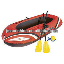 inflatable water pool beach boat with paddles and pump