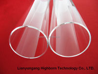 clear heat resistant quartz glass smoking tube