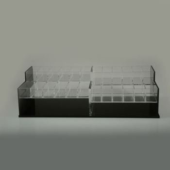 new coming transparent counter cosmetic display box acrylic display box