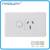 SAA double power 3 gang 2 socket with recomovable toggle switch