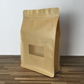 kraft paper bag brown with clear window china supplier