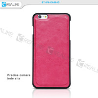 High quality crazy horse pattern leather flip for apple iphone 6s wallet case