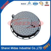 Road Facilities Used Application Heavy Duty Casting Ductile Iron Square Manhole Cover with Frame EN124 Class D400