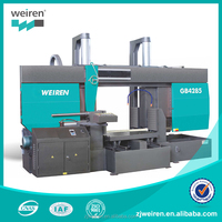 GB4285/100 Double column Double cylinder Grantry Horizontal Metal cutting band saw machine for metal used