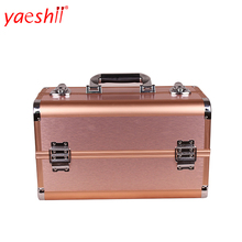 Yaeshii Cosmetic Case For Makeup With Aluminum Frame