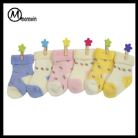 Morewin Brand Amazon supplier Wholesale new fashion baby socks cotton infant kids sock stripe toddle socks