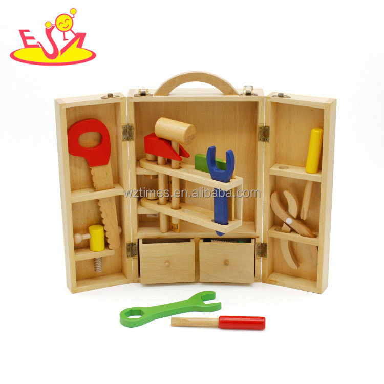 Wholesale fashionable diy assemble wooden tools set <strong>toy</strong> for boys W03D008