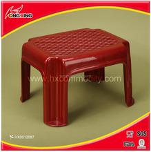 red rectangle plastic woven stools