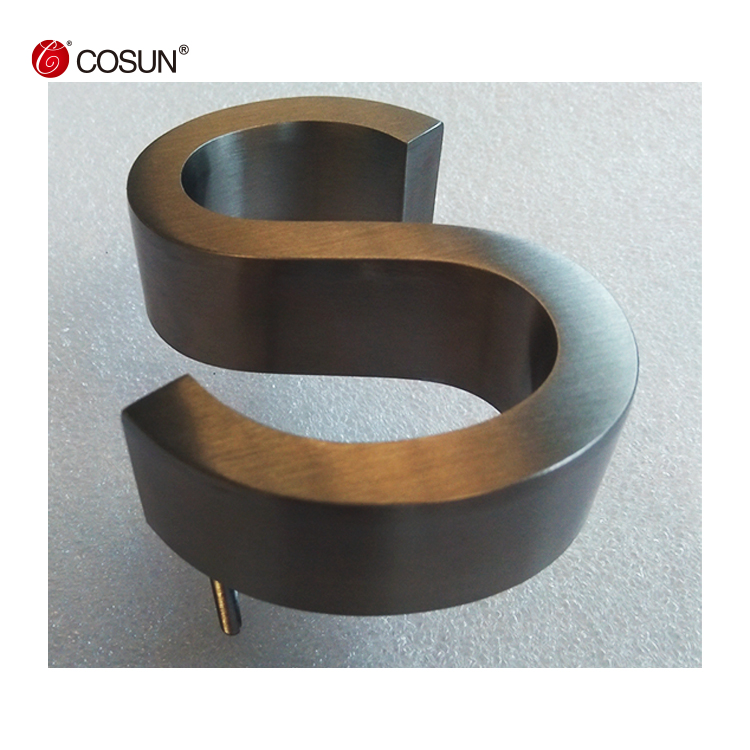 CosunSign High quality stainless steel channel letter sign, Customized 3D metal sign
