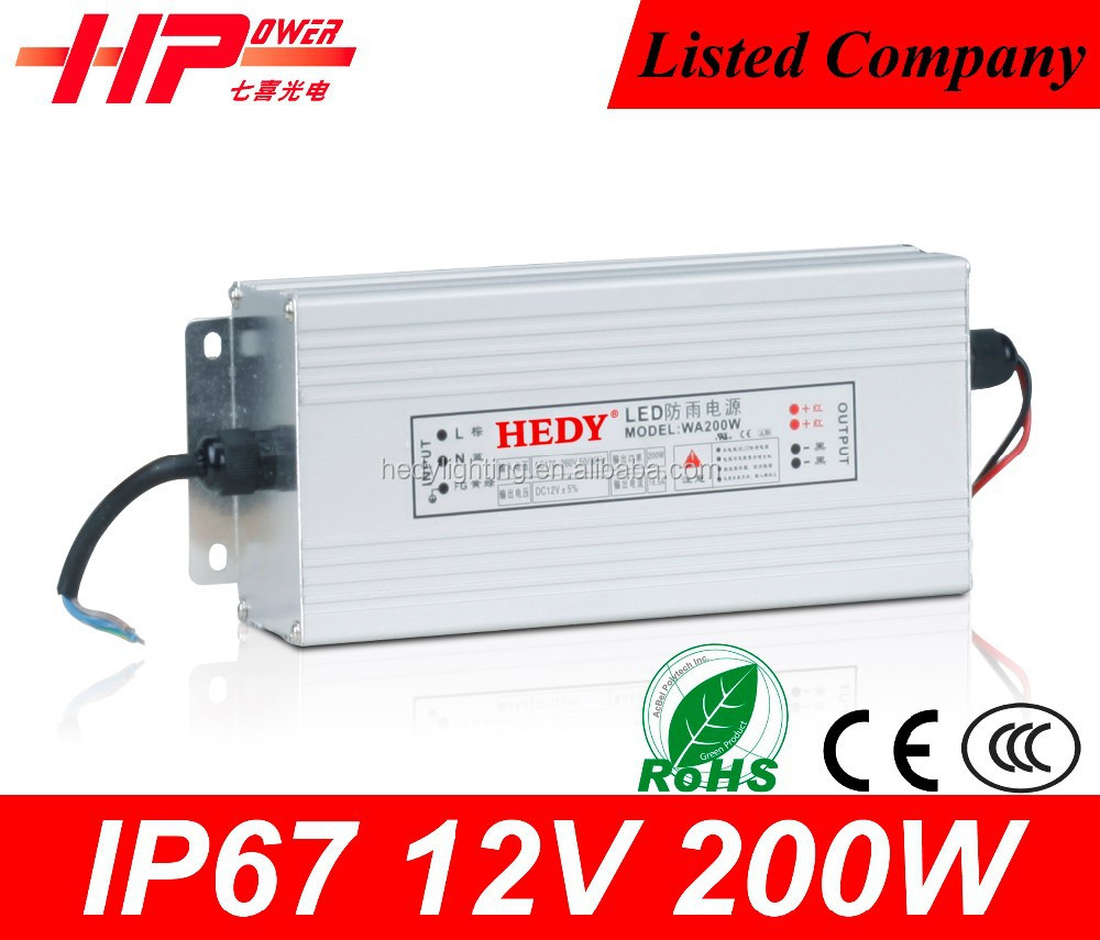 Reliable brand CE RoHS approved led power supply constant voltage 12volt 200w led switching power