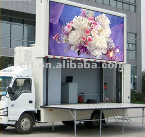P10 full color video mobile trailer led display