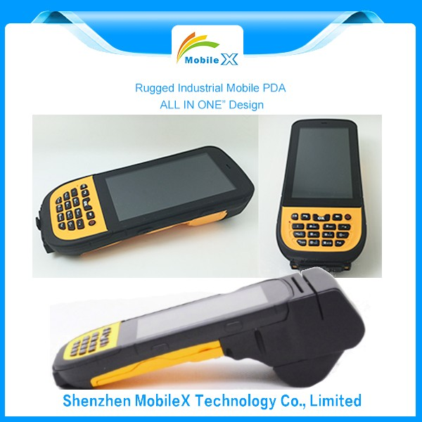 Industrial handheld PDA with thermal printer,PDF code,android OS,RFID Reader(MX4500)
