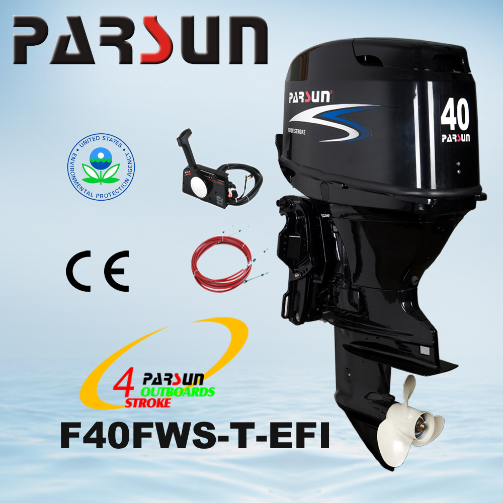 F40FWS-T-EFI 40HP 4-stroke remote control electricl start short shaft outboard engine boat motor outboard motor