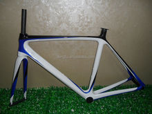 Dengfu Chinese cheap full inner cable carbon road bicycle bike frame, compatible with DI2, all size, OEM, BSA/BB30