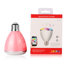 BL08A 2016 New Gadgets Hot Selling Small Led Bulb Speaker Bluetooth Mini Speaker With App Control