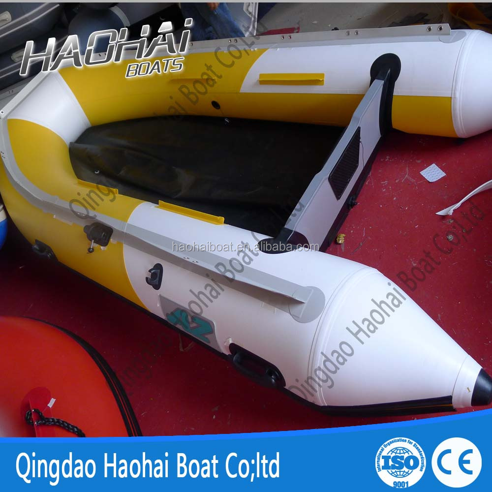 10.8ft 5 people v keel aluminum floor inflatable rowing boat