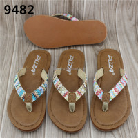 2016 Summer Fashion PU Ladies Elegant Soft Slippers