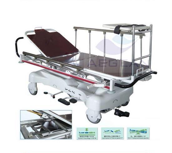 AG-HS005 Рост-осень направляющие колеса Медицинский гидравлические Тележки носилки