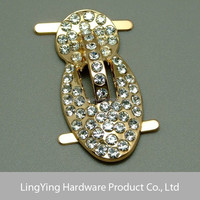 Fashion Metal Accessories Rhinestone Buckle For