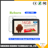 OEM Tablets 10 Inch A33 1G 16G Android 4.4 Bulk Wholesale Android Tablet