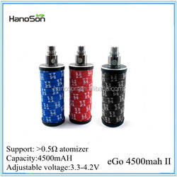 big battery e cigarette 2200mah Ego II Twist battery biggest 4500mah 510 battery variable voltage